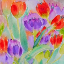 garden flowers watercolours sunshine coast gibsons artist plein air paintings