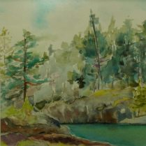 plein air original watercolour sunshine coast artist painting landscape west coast